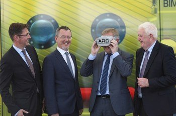 From left: Felix Leinemann, Jim O'Toole, Michael Creed and Kieran Calnan at the launch of the ARC. Photo: BIM