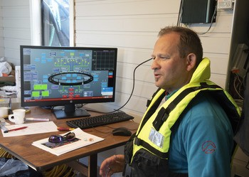 Operativ testleder Dag Ove Antonsen i AKVA group. Foto: Atlantis Subsea Farming.