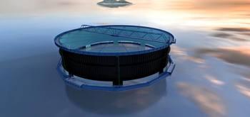 Slik ser skissen av «Aquatraz» konseptet ut, og i første omgang vil det bli laget fire prototyper som skal testes ut. Illustrasjon: MNH.