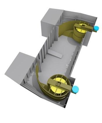 Stabilisatortanken GSIRE er utviklet av franske GEPS Techno. Illustrasjon: GEPS Techno