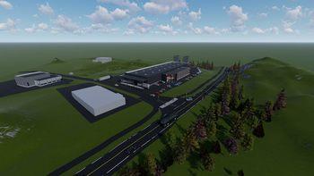 Illustrasjonsskisse av nye lokaler og ny produksjonslinje: NWP.
