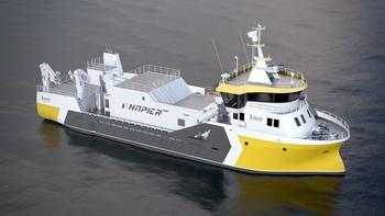 «Taupo» skal ferdigstilles vinteren 2018, og blir Napier sitt nyeste tilskudd i flåten. Foto: Napier.