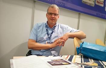 Daglig leder i Napier, Kjetil Tufteland er strålende fornøyd med sjøsettelsen av «Taupo».  Foto: Ole Andreas Drønen.