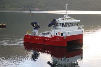 Byggenummer 156 blir basert på designet til GMV byggenummer 141 - Storøy, som ble levert til Eidsfjord Sjøfarm i 2017. Foto: Grovfjord Mek. Verksted.