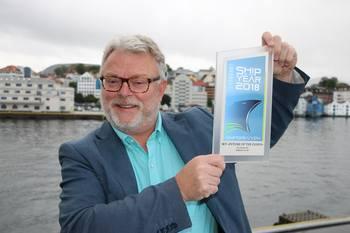 - Vi vil ha DITT forslag til Ship of the year 2019, sier ansvarlig redaktør Gustav-Erik Blaalid i Skipsrevyen. Foto: Sigbjørn Larsen.