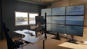 Her er en liten sniktitt av den ferske fòringssentralen til Emilsen Fisk. Klikk for større bilde. Foto: Moveo AS.