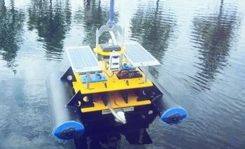 Den mekaniske luselarvesampleren er utviklet for å kunne filtrere store mengder vann - noe som må til for å kunne gi nøyaktige svar ettersom tettheten av luselarver i sjøen er svært lav. Klikk for større bilde. Kilde: Ingebrigt Uglem.