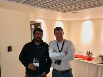 Representantes de Salmofood en Conferencia Sea Lice 2018. Imagen: Salmofood.