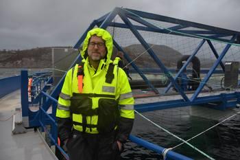 Prosjektleder for Aquatraz, Steingrim Holm er fornøyd med hvordan starten har vært i prosjektet. Foto: Ole Andreas Drønen