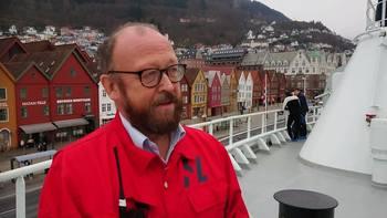 Carl-Erik Arnesen, Hav Lines administrerende direktør er oppgitt over myndighetenes beslutning. Foto: Therese Soltveit