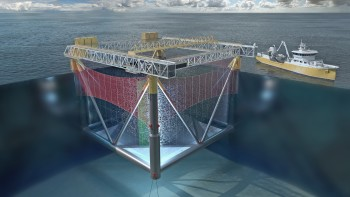 The GM Aqua offshore cage was rejected by the Fisheries Directorate but that decision has been overturned on appeal. Click on image to enlarge. Image: Global Maritime.