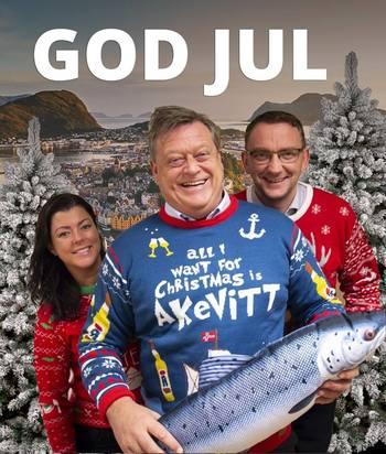 Nesvik ønsket nylig alle god jul på Facebook, og skriver at vi ikke må glemme sjømat på menyen i julen. Foto: NFD