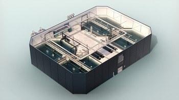 Skisser av RAS-anlegg i 3D. Foto: Nofitech.