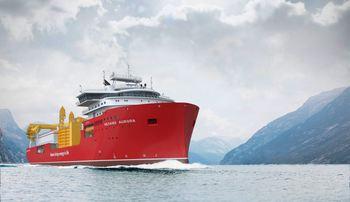 «Nexans Aurora» var nominert til Ship of The Year. Foto: Ulstein Group
