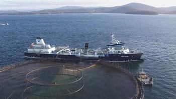 Ingen andre skip i verden har så stort anlegg for produksjon av ferskvann som det Ronja Storm får. Hvert døgn kan båten produsere 16, 8 millioner liter ferskvann. Båten kan dermed dekke døgnforbruket av ferskvann til 100.000 gjennomsnittsnordmenn. Klikk for større bilde. Illustrasjon: Havyard