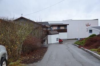 Emilsen Fisk sitt kontor på Lauvøya i Rørvik. Foto: Ole Andreas Drønen