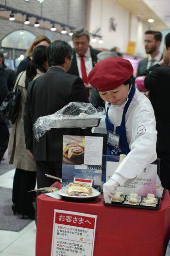 Promotering av norsk sjømat på Japans største supermarked-kjede AEON. Foto: Nærings- og fiskeridepartementet