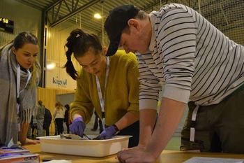 Engasjerte elever fra Inndyr skal representere Nordland i skole-NM i akvakultur. Foto: Kigok.