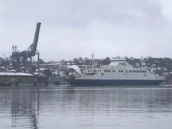 Bastøfergen ankommer Moss. Foto: Sigbjørn Larsen.