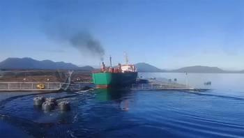 Accidente de embarcación acuícola en centro de cultivo de salmón.