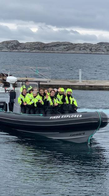 Skjerjehamn vil tilby visningsturer med deres egen RIB Firda Explorer-båt på Laksens dag. Foto: Viggo Randal.
