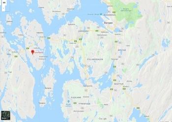 Messen skal avholdes på Straume, ca. 15 km fra Bergen sentrum og 20 km fra Flesland flyplass. Kart: Google maps.