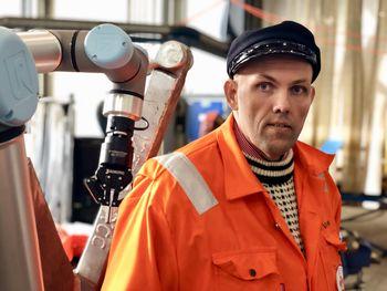 Jan Vindenes har bygget monsterbøye til Nordkapp. Foto: Sotra Anchor & Chain