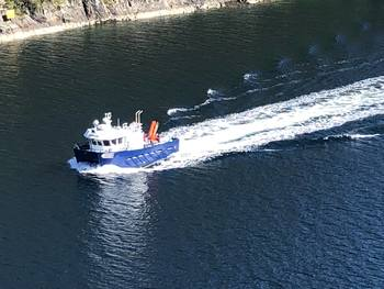 Norgeskjell AS sin nye båt  «MS Tørhaug».  Foto: Norgeskjell AS.