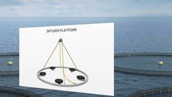 Diffuser plattformen (Illustrasjon/ visualisering: Pentair Vaki/ Nagelld)