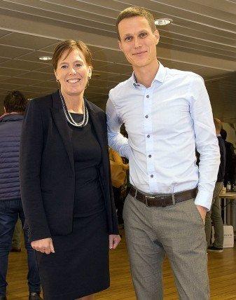 Åsa Espmark fra Nofima og Hans Bjelland fra Sintef leder hvert sitt forskningssenter på fremtidens havbruksteknologier. (Foto: Frode Nerland, Nofima)