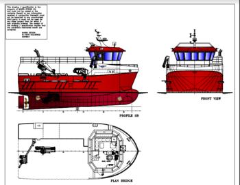 Skisse av fartøyet: Marin Design AS.