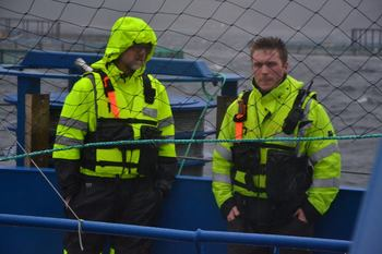 Project manager Steingrim Holm and operations manager Håvard Horn. Photo: Ole Andreas Drønen.
