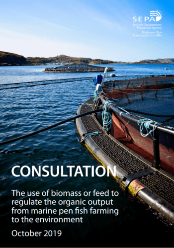 SEPA's consultation document explains the pros and cons of using biomass or feed to regulate environmental impact.