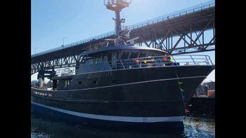 The Geemia Joye is the latest of Walkus' five aquaculture boats. It was built at the ABD boatyard in North Vancouver and cost Can$11m. Click on image to enlarge. Photo: James Walkus Fishing Company.