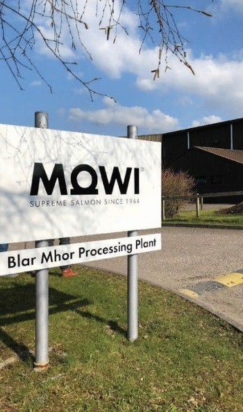 Staff at Mowi's Blar Mhor processing plant set a new Q3 record of 18,888 tonnes of fish. Photo: Mowi.
