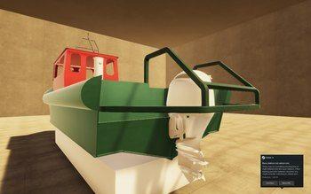 Bilde fra digital prototyping i VR av båt for Lerøy Seafood. Ill: Lerøy / Nagelld.