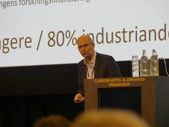 Forskningsleder Leif Magne Sunde, Sintef Ocean/prosjektleder Tekmar under Tekmar 2019. Foto: Kyst.no