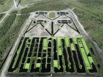 The site, which covers more than five hectares, has four fish ponds and a larger area for growing duckweed and algae. Click on image to enlarge. Photo: BIM.