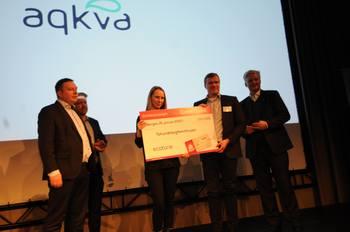 Ecotone stakk forrige gang av som vinner av Gründerjulepresangen under Aqkva-konferansen i Bergen. Foto: Pål Mugaas Jensen