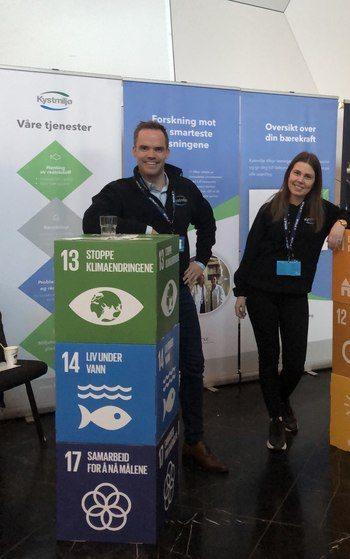 Daglig leder i Kystmiljø, Christian Johansen og prosjekt- og kvalitetsleder, Tina Olaussen. Foto: Kystmiljø.