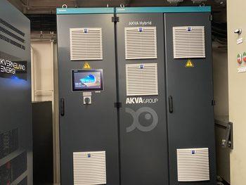Mortenlaks fikk installert AKVA Hybrid batteripakke til fôrflåten julen 2019. Foto: Akva Group