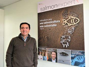 Hernán Rebolledo, representante región de Aysén de SalmonChile. Foto: Archivo Salmonexpert.