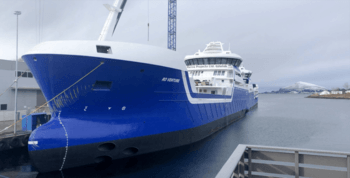 «Ro Venture» er søsterskipet til «Ro Vision», og er og identisk lik. Klikk for større bilete. Foto: Larsnes Mek. Verksted.