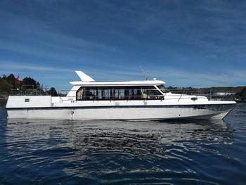 One of the boats Blumar is using to transfer farm technicians from Puerto Montt to Aysen, a journey of at least 20 hours.