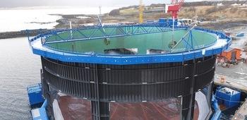 Tredje generasjon Aquatraz-merd. Foto: Midt-Norsk Havbruk