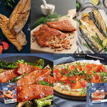 Cooke's Smoke From The Water box offers a variety of smoked salmon, plus mackerel and herring fillets.