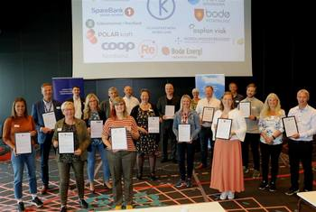 Klimapartnerne i Klimapartner Nordland under stiftelsesmøte fredag 5. juni. Foto: Karianne Olaisen