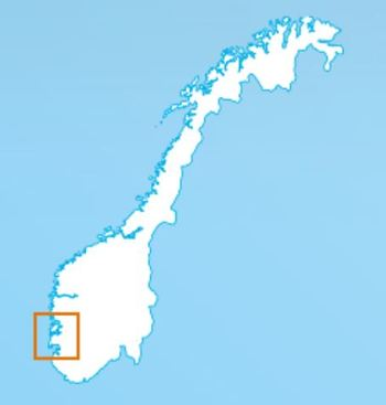 Bremnes Seashore has 28 sites in nine municipalities in the south of Norway. Map: Bremnes Seashore.