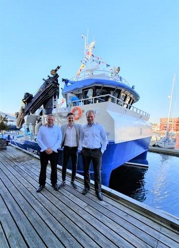 Fra venstre: Odd Tore Frøyen (styreleder Sjøprodukt AS), Gaute Vassbotten (Daglig leder Godfisken AS), Ronny Larsen (daglig leder Sjøprodukt AS).
