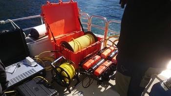 ROV utstyr som brukes til å dokumentere prototypen under vann gir uvurderlig data for  utviklingsarbeidet. Foto: Probotic